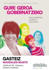 Responsabilidad, acuerdo y soluciones @ Palacio Europa de Gasteiz